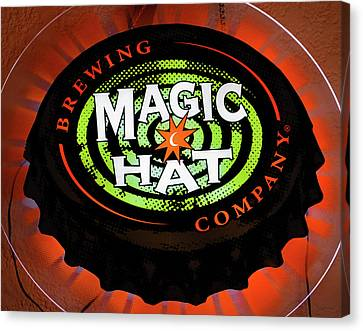 Magic Hat Neon Beer Sign Canvas Print by David Lee Thompson