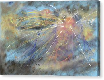 Magic In The Skies Canvas Print by Angela A Stanton