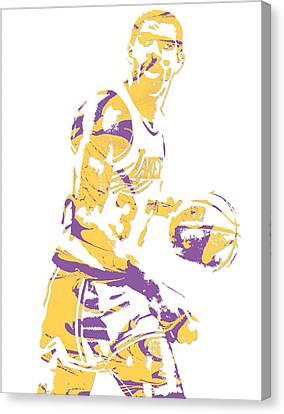 Magic Johnson Canvas Print - Magic Johnson Los Angeles Lakers Pixel Art 6 by Joe Hamilton