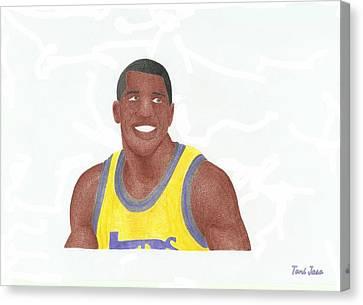 Magic Johnson Canvas Print by Toni Jaso