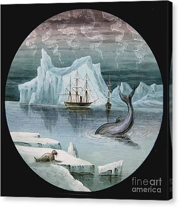 Magic Lantern Slides Of Arctic Exploration Canvas Print by MotionAge Designs