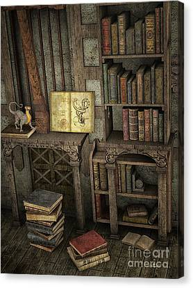 Magic Literature Canvas Print by Jutta Maria Pusl