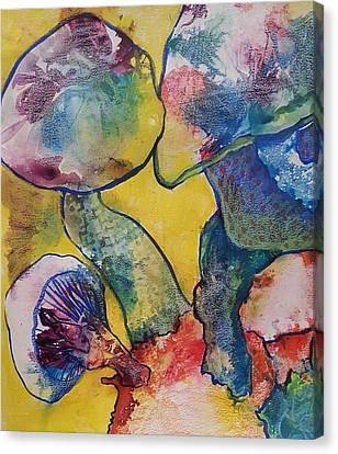 Magic Mushrooms Canvas Print by Jessica Lee