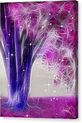 Canvas Print featuring the digital art Magic Myrtle by Wendy J St Christopher