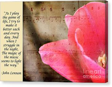 Magic Of Music Canvas Print by Traci Cottingham
