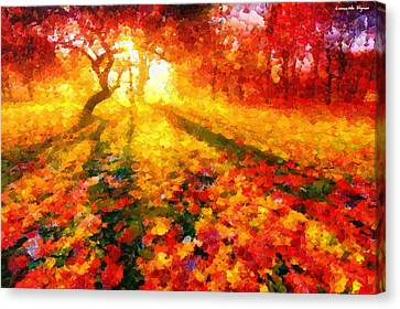 Magic Park - Da Canvas Print by Leonardo Digenio