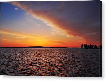 Magic Time On The Chesapeake Canvas Print by Bill Cannon