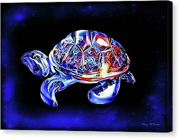 Canvas Print featuring the digital art Magic Turtle by Pennie  McCracken