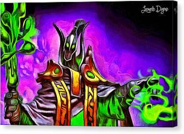 Magic Warrior - Da Canvas Print by Leonardo Digenio