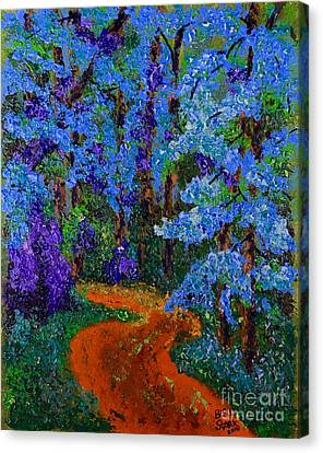 Magical Blue Forest Canvas Print