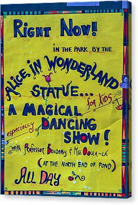 Magical Dancing Show Poster Canvas Print