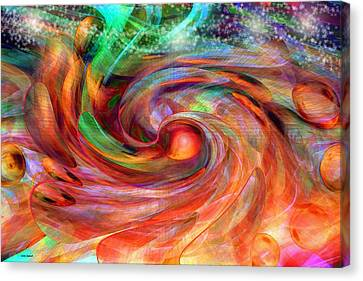Magical Energy Canvas Print by Linda Sannuti