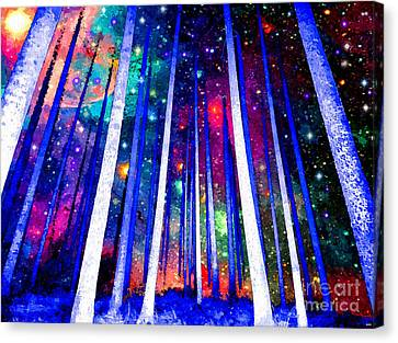 Deep Space Canvas Print - Magical Forest by Daniel Janda