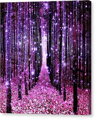 Magical Forest Pink Purple Canvas Print