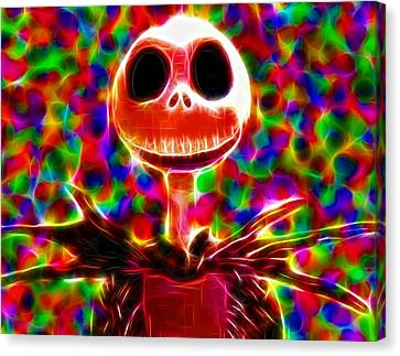 Magical Jack Skellington Canvas Print by Paul Van Scott