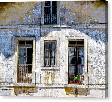 Canvas Print featuring the photograph Magical Light On Sintra Windows by Marion McCristall