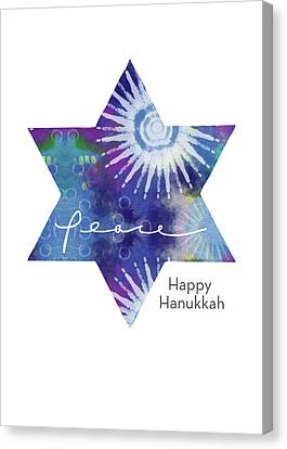 Friend Holiday Card Canvas Print - Magical Peaceful Hanukkah- Art By Linda Woods by Linda Woods