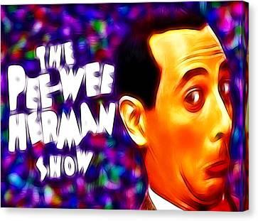 Magical Pee Wee Herman Canvas Print by Paul Van Scott