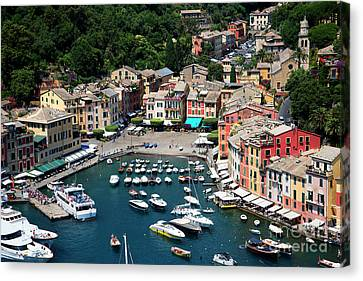 Portofino Cafe Canvas Print - Magical Portofino  by Brenda Kean