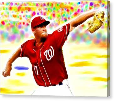 Magical Stephen Strasburg Canvas Print by Paul Van Scott