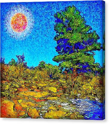 Canvas Print featuring the digital art Sparkling Mountain Sunshine - Boulder County Colorado by Joel Bruce Wallach