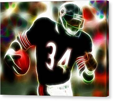 Walter Payton Canvas Print - Magical Walter Payton by Paul Van Scott