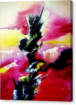 Magical Waterfalls Canvas Print by David Hatton