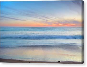 Magical Waves Tarifa Beach At Sunset Canvas Print by Guido Montanes Castillo
