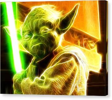 Magical Yoda Canvas Print by Paul Van Scott