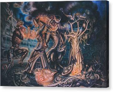 Parable Canvas Print - Magicians Competition by De Es Schwertberger