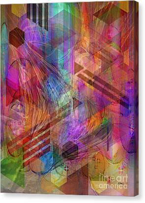 Magnetic Abstraction Canvas Print by John Beck