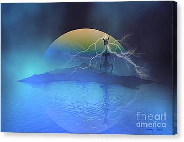 Magnetic Flux Canvas Print by Corey Ford