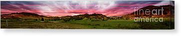 Magnificent Andes Valley Panorama Canvas Print by Al Bourassa