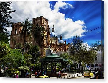 Magnificent Center Of Cuenca, Ecuador IIi Canvas Print by Al Bourassa