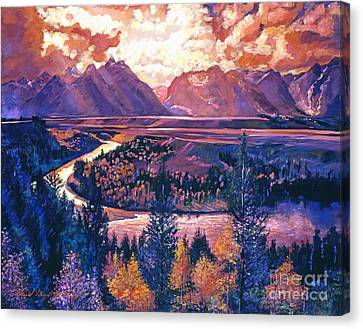 Magnificent Grand Tetons Canvas Print by David Lloyd Glover
