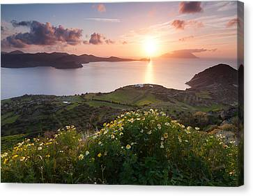 Magnificent Greek Sunset Canvas Print by Evgeni Dinev