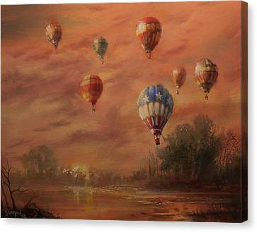 Balloon Festival Canvas Print - Magnificent Seven by Tom Shropshire