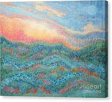 Magnificent Sunset Canvas Print by Holly Carmichael