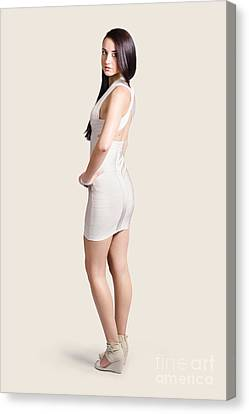 Magnificent Woman In White Dress. Fashion Photo Canvas Print by Jorgo Photography - Wall Art Gallery