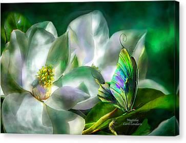 Insects Canvas Print - Magnolia by Carol Cavalaris
