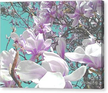 Canvas Print featuring the photograph Magnolia Charm by Rebecca Harman
