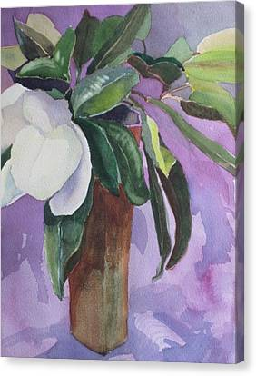 Canvas Print featuring the painting Magnolia by Elizabeth Carr
