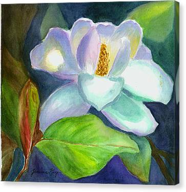 Canvas Print featuring the painting Magnolia by Jeanne Kay Juhos