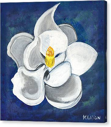 Canvas Print featuring the painting Magnolia by John Keaton