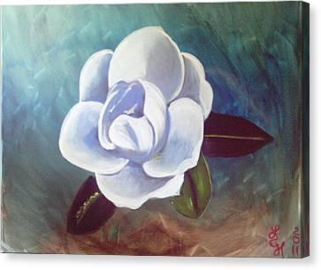 Magnolia Canvas Print by Loretta Nash