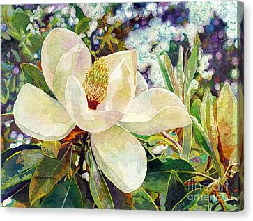 Magnolia Melody Canvas Print by Hailey E Herrera