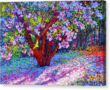 Impressionist Landscape Canvas Print - Magnolia Melody by Jane Small