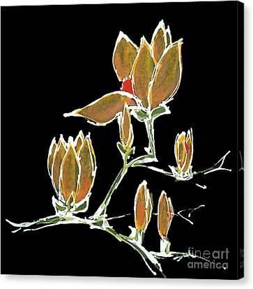 Magnolia-orange Canvas Print