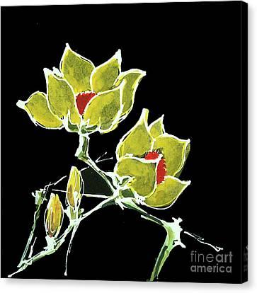 Magnolia-yellow Canvas Print