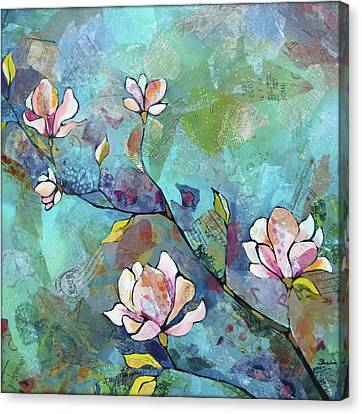 Magnolias Canvas Print by Shadia Derbyshire